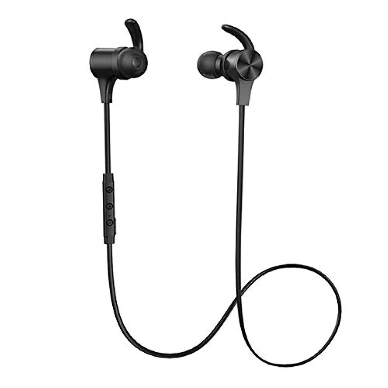 落ちた弓花弁TaoTronics TT-BH07S BK【ブラック】 Bluetooth5.0 aptX HD AAC対応 高音質 最長15時間 長持ち IPX5 Android iPhone ワイヤレス イヤホン