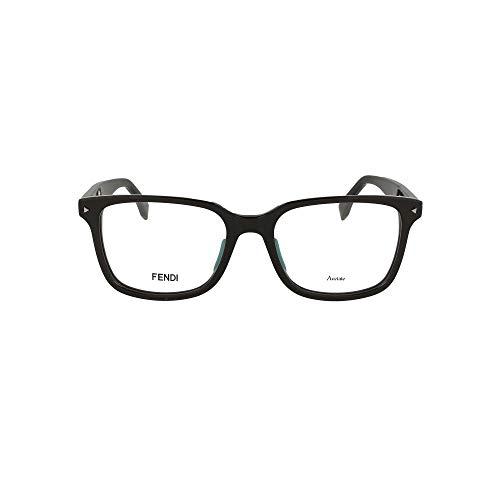 FENDI Moda De Lujo Hombre FF022080718 Negro Acetato Gafas   Temporada Permanente