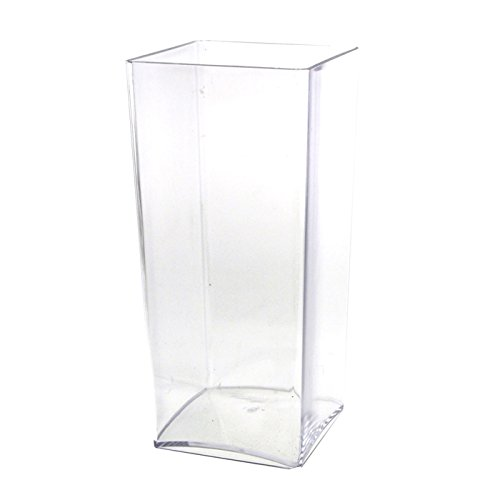 Firefly Imports Clear Acrylic Block Vase Display, 10-inch