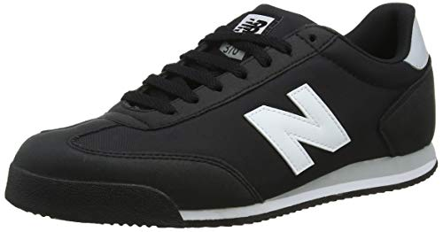 New Balance Herren 370 Sneaker, Schwarz (Black/White/Grey Blw), 44 EU