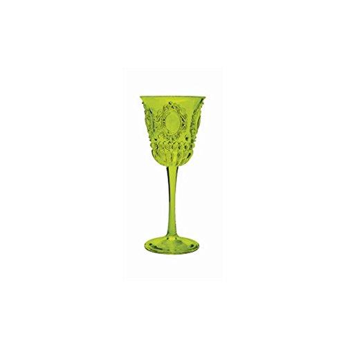 Copa de Vino de acrilato de Baci, pequeño Conjunto de 6 Piezas, acrílico, Transparente, 6.5 x 6.5 x 15 cm