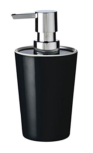 RIDDER 20015100 Distributeur de Savon Fashion, Synthétique, Noir, 8 x 8 x 12,9 cm