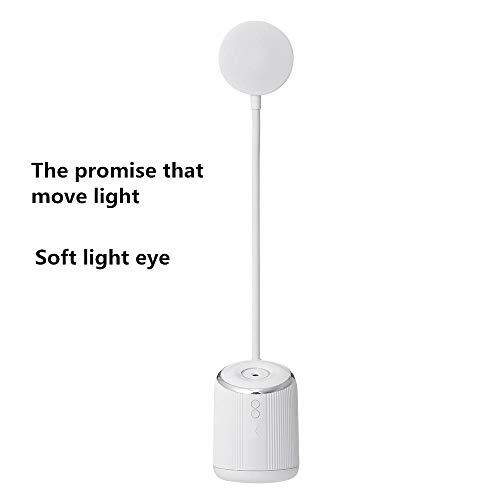 USB-nachtlampje, luchtbevochtiger, slaapkamer, slaapkamer, rustig leren oogbescherming, leesbaar, tafellamp, wit