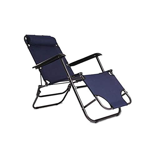 SBDLXY Leisure Office Chair Recliner Reclining Folding Gravity Sun Lounger Deck Chair Garden Bed Headrest Durable Strong