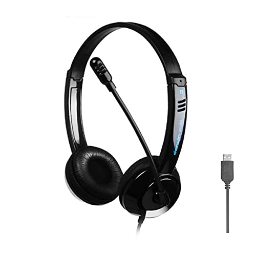 USB Headset, PC Headset mit Noise-Cancelling-Mikrofon Business Headset Call Control Chat Headset Ultra Komfort Headset Klare Stereo-Sound für Webinar-Präsentationen Online-Kurse und Musik