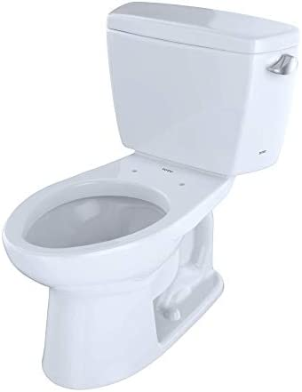Toto Cst744sr 01 Drake 2 Piece Toilet With Elongated Bowl And Right Hand Trip Lever Cotton White Two Piece Toilets Amazon Com