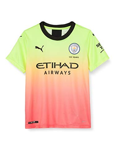 PUMA Manchester City FC Kids Replica Dodge Jersey, Unisex niños, Amarillo (Fizzy Yellow-Georgia Peach), 176