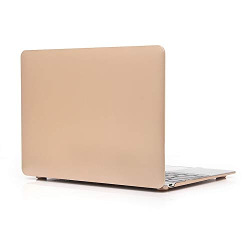 Stylish, lightweight and pleasa Metal Texture Series Hard Shell Plastic Protective Case for Macbook 12inch,All buttons and ports are easy to access.(Pink) (Color : Gold)