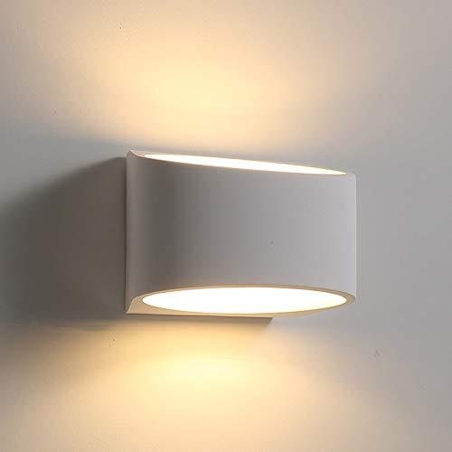 Bradoner LED Modernen Minimalistischen Flur Schlafzimmer Wohnzimmer Kreative Energiesparende Wandleuchte Geometrie Gips Lampenschirm Persönlichkeit Mode Weiß 110-240 V (19 * 13 * 9 cm)