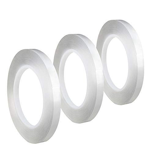 Double Sided Tape, Acrylic Adhesive Heavy Duty Mounting Tape Removable & Residue-Free for Home Decor,Wall Decor,Room Decor,Office Decor,Photo Frame Mounting (0.2inch Width)