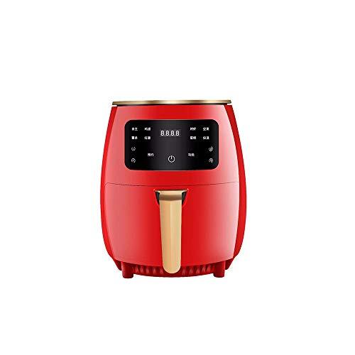 ZXAOYUAN Freidora sin Aceite, 4.5L Freidora de Aire Caliente con8 Programas, Air Fryer con Temperatura y Temporizador Ajustable, Cesta Antiadherente, Regalo Ideal Red
