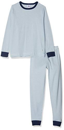 Petit Bateau Jungen Pyjama_4984901 Zweiteiliger Schlafanzug, Mehrfarbig (Acier/Marshmallow 01), 98 (Herstellergröße: 3ans/95cm)