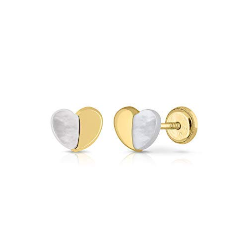Certified Sterling Gold Earrings; Girl/Women; Natural Cultured Pearl, Safety Clasp