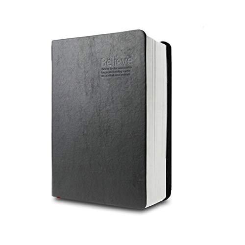KXF Klassisches Vintage-Notizbuch mit weichem Kunstledereinband, super dick, 720 Seiten, liniert, für tägliches Bibelstudium, Notizbuch, Tagebuch, Skizzenbuch, Schwarz