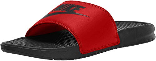 Nike Benassi Just Do It, Ciabatte Uomo, Black/White, 37.5 EU