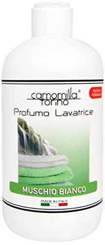 Profumo concentrato Lavatrice 250 ml. Camomilla Torino Linea Classica in 6 Fragranze. Italy (muschio bianco)