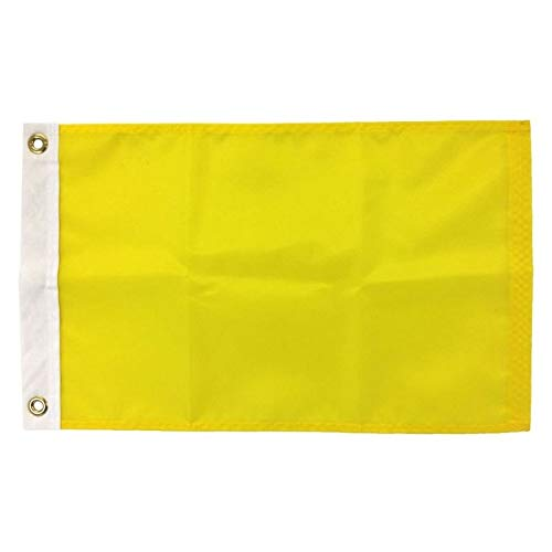 12X18 Quarantine Flag, 200 Denier All-Weather Nylon, for Sailing and Boating Port Entry, Made in USA