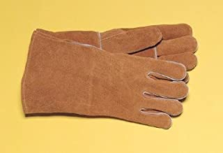 """Radnor Large Bourbon Brown 14"""" Select Shoulder Split Cowhide Cotton Lined Welders Gloves With Reinforced, Straight Thumb"""