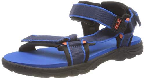 Jack Wolfskin Unisex-Kinder Seven SEAS 3 K Sport Sandalen, Blau (Blue/Orange 1174), 35 EU
