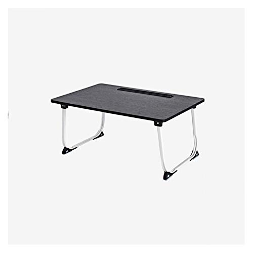 Sofa bed table Natural Wood Folding Bed Desk - Sturdy Durable A Natural Wood Veneer Finish To Complement Any Décor - Foldable Quick Easy Use No Assembly Required 60x40x27cm - Black Willow Color Comput