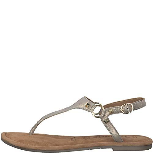 Tamaris 1-28129-24 Damen Zehensteg Sandalen Sandaletten, Größe:42 EU, Farbe:Braun