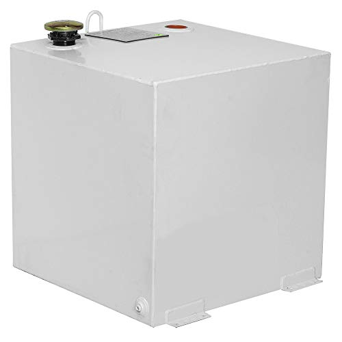 Jobox Crescent 50 Gallon White Square Steel Liquid Transfer Tank for Trucks - 485000