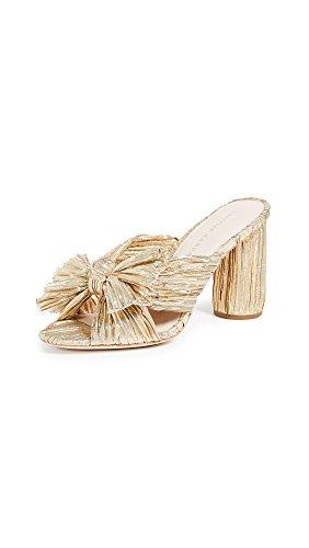 Loeffler Randall Women's Penny Heeled Sandal, Gold, 5