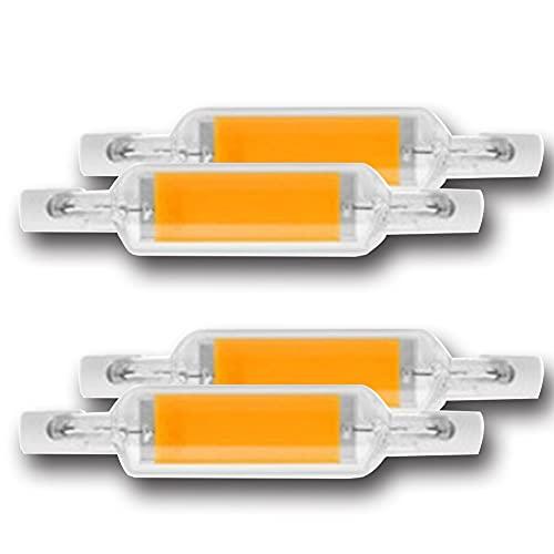 FILTER Bombilla LED R7S 78MM 10 Watt Blanco cálido Base R7S Bombilla súper Brillante, Tipo J Bombilla Lineal de Doble Extremo J78 Luz de inundación (3000K)