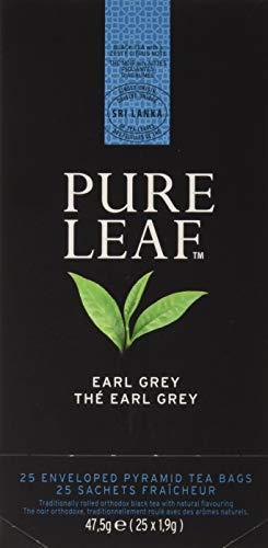 Pure Leaf Te negro premium Earl Grey - 2 cajas de 25 piramides (Total 50 piramides)