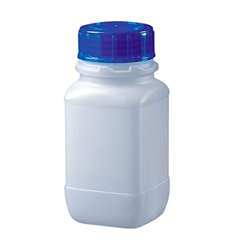 NeoLab 6-3051 brede hals-vierkante flessen met schroefdop, HDPE, 128 x 59 mm, 250 ml