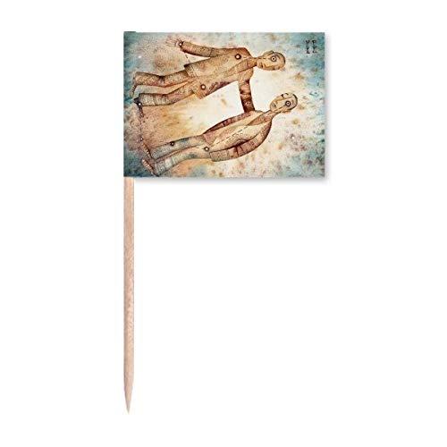 May June Gemini Sternbild Sternzeichen Zahnstocher Flaggen Marker Topper Party Dekoration