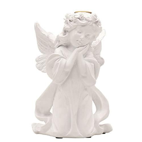 Ala De ángel Estatua De Oración Querubín Vela Estatuilla De Resina Candelabro Adornos Artesanales Para La Decoración De La Boda De La Iglesia Del Hogar (Ángel),F