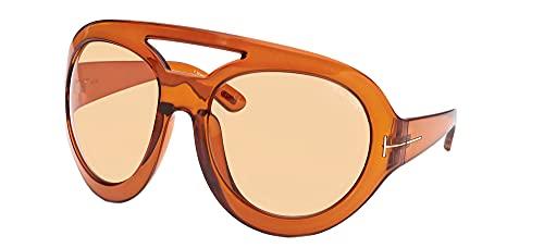 Tom Ford Gafas de Sol SERENA-02 FT 0886 Shiny Light Brown/Light Brown 68/22/115 unisex