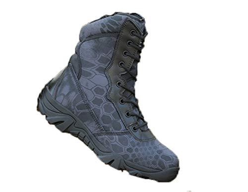 Hommes Femmes Armée Tactique Bottes Chasse Trekking Chaussure de Combat Militaire Pêche Chaussures de randonnée Black Python 9