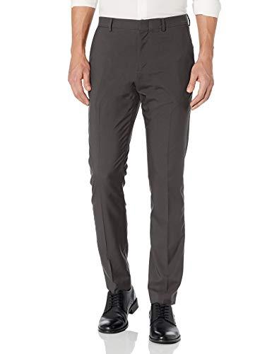 Perry Ellis – Pantalón técnico sólido Muy Delgado para Hombre, Carbón, 30W x 30L
