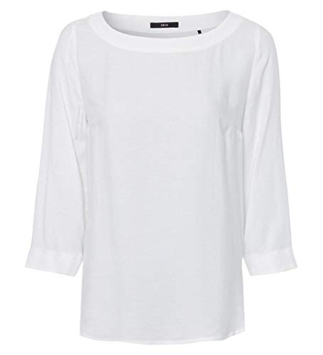 zero Franchise Blouse Boat Neck Button Placket at, Offwhite(Offwhite (5282)), Gr. 34