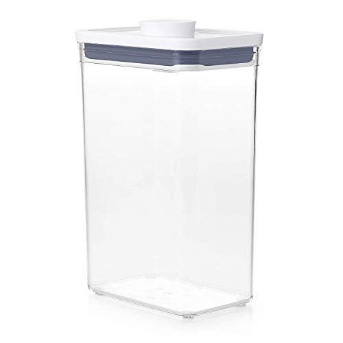 OXO Good Grips POP Container - Airtight Food Storage - 2.7 Qt Rectangle (Set of 4) for Rice and More
