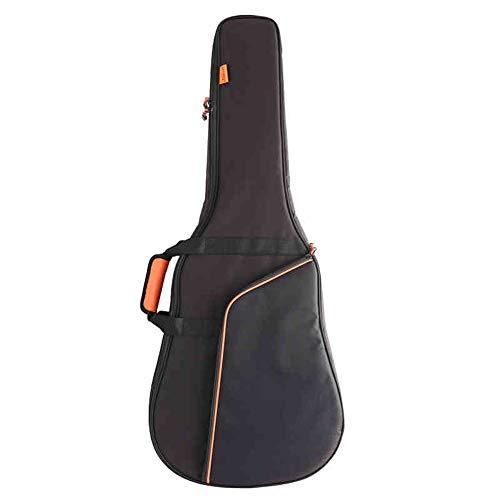 MSF1990 Wasserdicht Gitarrenhülle, Kapok Gitarrentasche, 41 Zoll Dicker roter Gitarrenrucksack aus Baumwolle for Schultern/Gitarrenklavier/faltbar (Farbe : Schwarz, Größe : 41Inch)