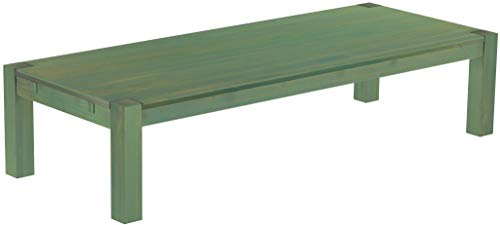 Brasilmöbel, Rio Kanto, salontafel, 200 x 80 cm, bamboe, mintgroen, woonkamertafel, houten tafel, massief houten salontafel, bijzettafel, echt hout, afmetingen en kleur naar keuze
