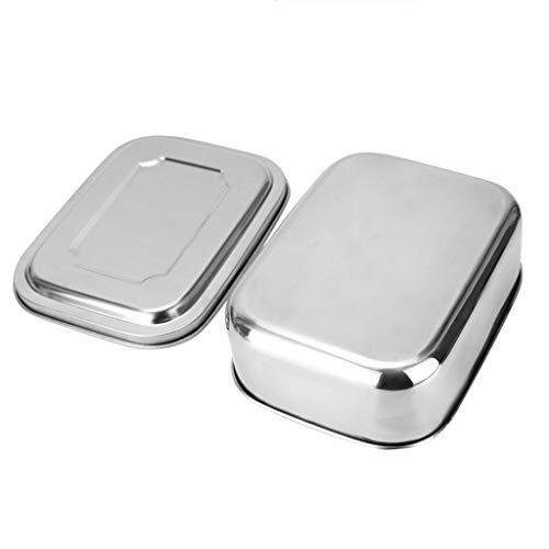 Moent Reis Aufbewahrungsbox Lebensmittelbehälter Edelstahl Lunchbox mit Unterteilungsbehälter Luftdichte Küche , Dining & Bar