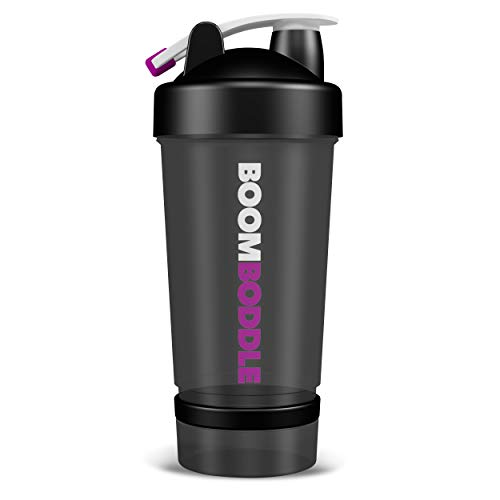 Boomboddle, Protein Shaker Water Bottle, 20 Oz
