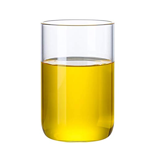 QAX Botella de Cristal con Tapa,Jarra Agua Estilo Moderno para Agua Fría Hielo Té Vino Café Leche y Jugo Bebida,Cup