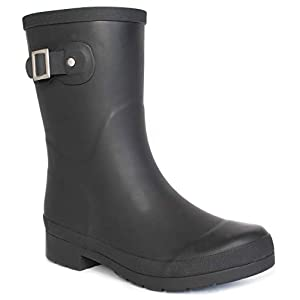 Chooka Women's Waterproof Solid Mid-Height Rain Boot