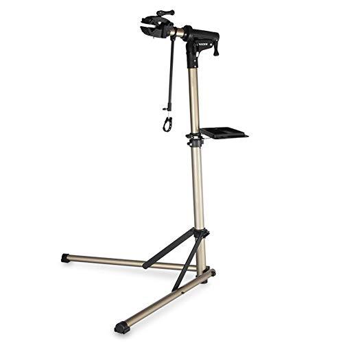 TYBXK fahrradhalter Aluminiumlegierung-Fahrrad-Montageständer Profi-Fahrrad-Reparatur-Werkzeuge Einstellbare Falten Fahrradträger-Halter-Speicher Fahrradmontageständer 26 (Color : BikeRepairStand)