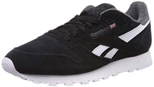 Reebok Herren Classic Leather MU Gymnastikschuhe, Schwarz (E St L/Black/True Grey), 44 EU