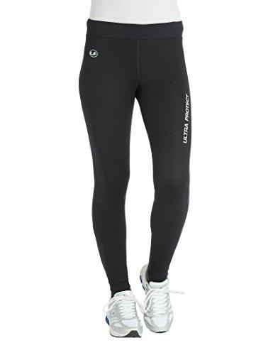 Ultrasport Windstopper Pantalones de Correr, Mujer, Negro/Morado, S
