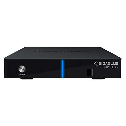 GigaBlue UHD IP 4K Multimedia Mulitroom - 2160P Digital Ultra HD Receiver - DVB-S2X Dual Tuner, Multistream - HDMI, SD Kartenleser, Astra vorinstalliert, USB3.0, Internet-Radio,HDR10, inkl. HDMI Kabel
