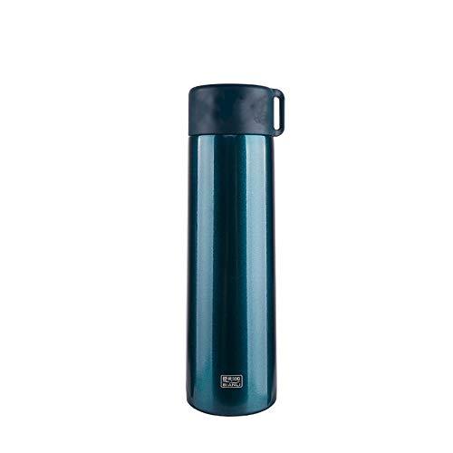 MSNLY Kompakte Mini-Vakuumflasche für Kinder, tragbar, tragbare 304-Edelstahl-Wasserbecher-Studentenschöpfermode mit Teefach