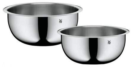WMF Function Bowls Küchenschüssel-Set, 2-teilig, Ø 22 und 24 cm, Cromargan Edelstahl, multifunktional als Rührschüssel Salatschüssel Servierschüssel, stapelbar