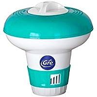 Gre 40071 - Dosificador flotante mini para piscinas, capacidad de 7 pastillas de 20 gr